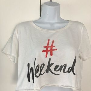 Weekend Crop Top Size Small
